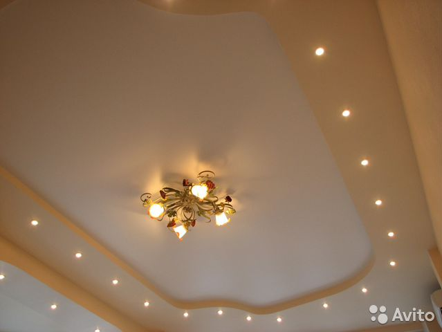потолок натяжной матовый и глянец фото