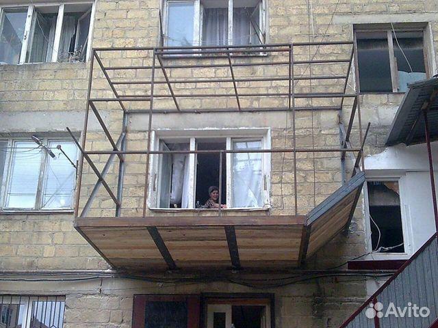 Балкон из легких конструкций.