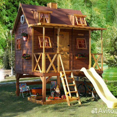 Фото детских деревянных домиков своими руками