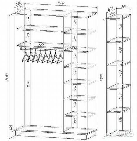 шкаф своими руками из дерева чертежи