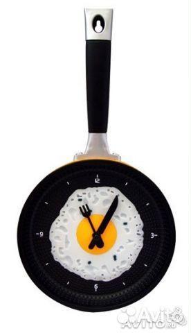 Оригинальные часы сковорода новые