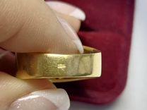 Золотое кольцо с гранатом 750 желтое золото