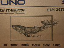 "Hовый 39"" Yuno ULM-39TC120 с dvbt-2"
