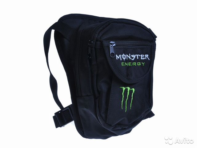 Сумка для мотоциклиста на бедро Monster Energy— фотография №1