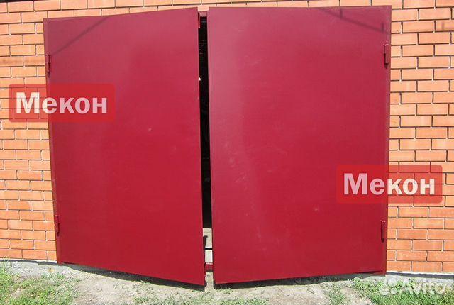 гаражные ворота распашные с калиткой барнаул