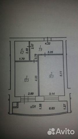 Продается однокомнатная квартира за 2 550 000 рублей. Народный б-р д.11.