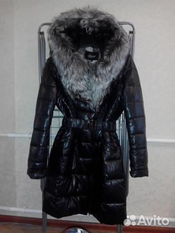 f2119841105 Продам зимнее кожаное пальто с чернобуркой
