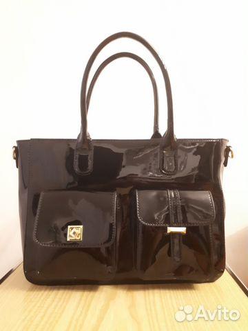 Новая женская кожа-лак сумка 89107369814 купить 1