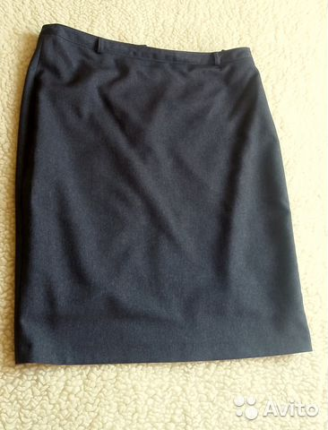 5f12261aa11 Юбка серая прямая 48 р-р деловая одежда