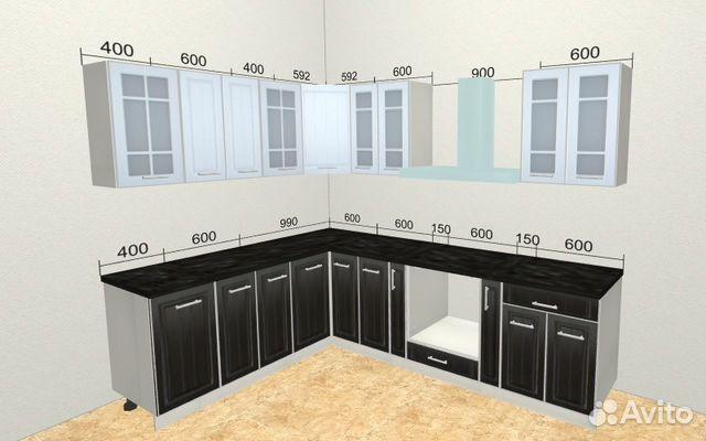 Кухня модульная белое дерево/венге (2700) - Мебель во Владивостоке | 400x640