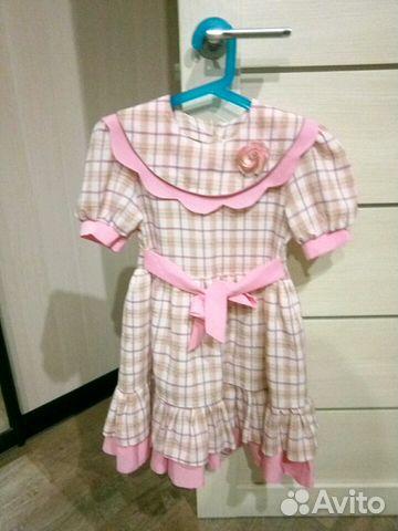 Платье 116-122 состояние нового 89137851946 купить 3