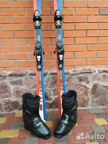 Продам клубные горные лыжи+ботинки купить в Краснодарском крае на ... c007e524e33