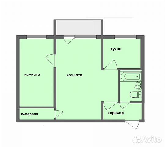 Продается двухкомнатная квартира за 2 500 000 рублей. Нижний Новгород, улица Героя Советского Союза Прыгунова, 8.