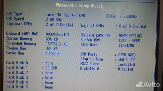 8-ми ядерный 2-х процессорный сервер supermicro купить в