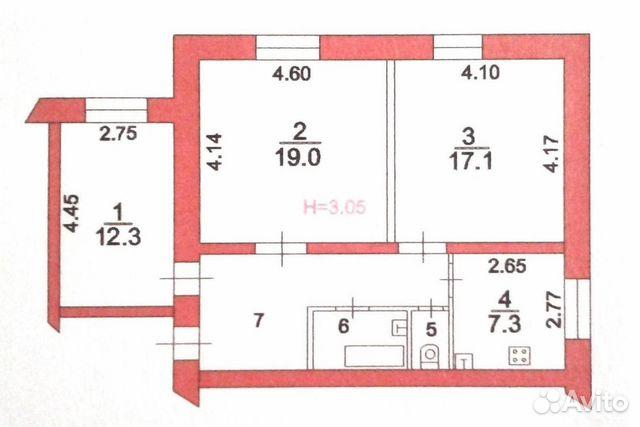 Продается трехкомнатная квартира за 4 000 000 рублей. Московская обл, Сергиево-Посадский р-н, г Хотьково, ул Горжовицкая, д 1.