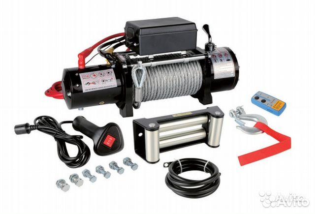 Электрическая лебедка автомобильная 12 и 24 вольт