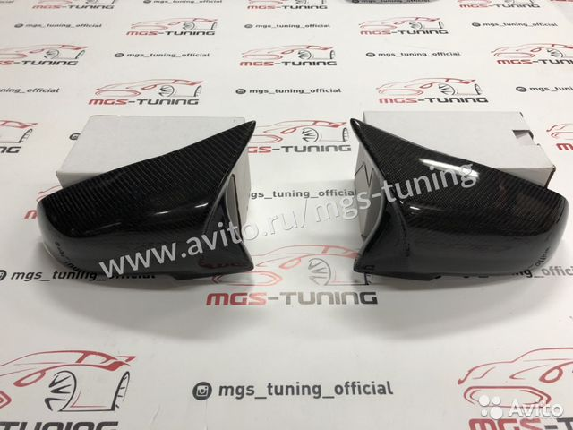 Накладки на зеркала (крышки) М2 на BMW F22 карбон 89186774177 купить 1