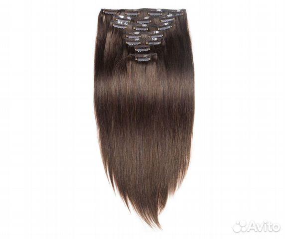 Прокат. Натуральные волосы цвет №4, 70г, 60см, 16  купить 4