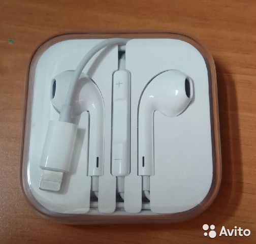 89087176847 Наушники Apple EarPods lightning Ч