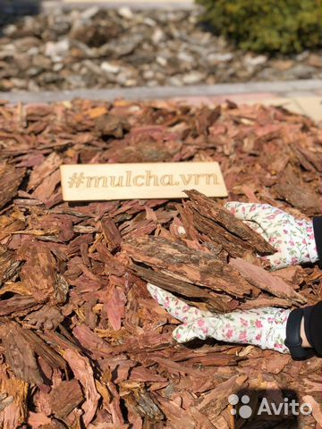 Мульча из коры лиственницы. Укрывной материал 89036526880 купить 4