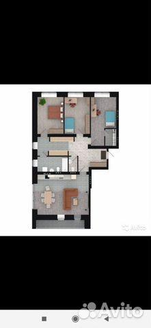 3-к квартира, 111 м², 4/16 эт.  89091850282 купить 2