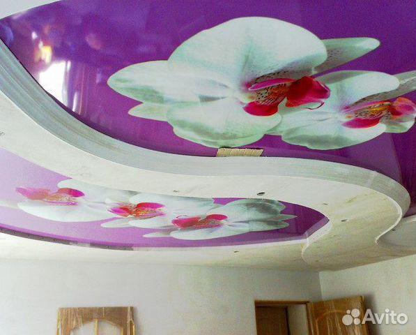 самые популярные натяжные потолки фото с рисунком кстово красотки