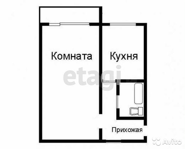 1-к квартира, 41.5 м², 2/5 эт.