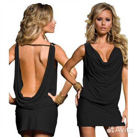 c073b2005ab Маленькое черное платье с открытой спиной купить в Москве на Avito ...