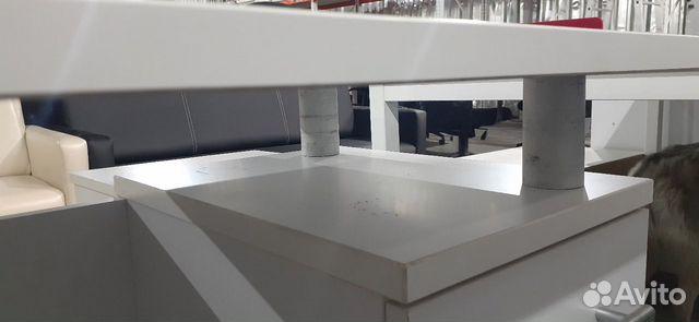 Стол рабочий белый с встроенной тумбой б.у  89220229307 купить 3