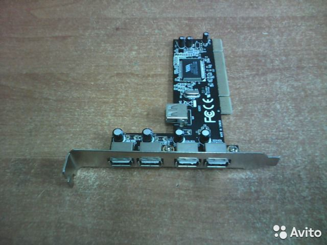 Контроллер PCI to USB 2.0 4+1P  89005609370 купить 2