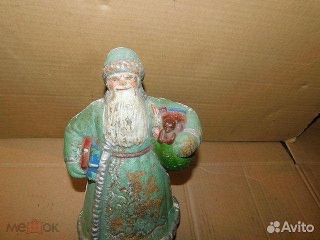 Старинная новогодняя игрушка дед Мороз пресс-опилк  89065103360 купить 7