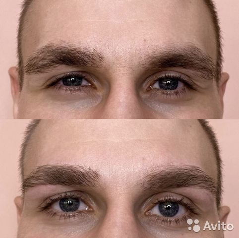 мужская коррекция бровей