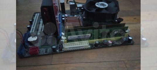 Комбо материнская плата, видеокарта, процессор, ку