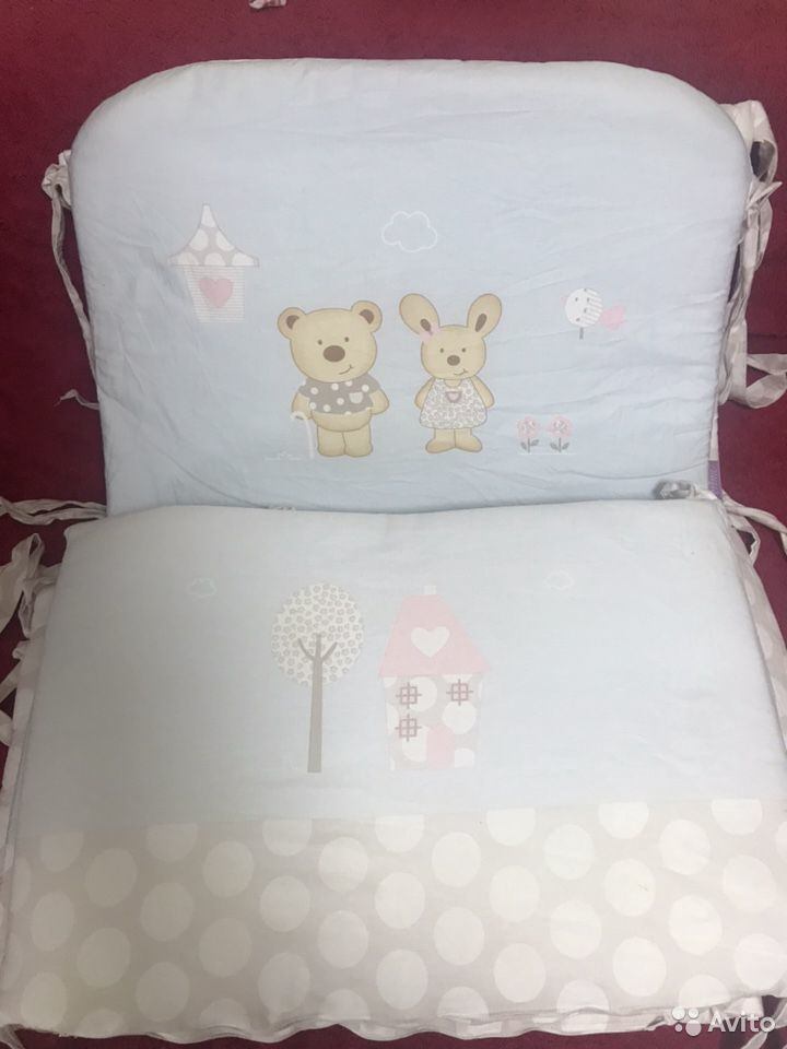 Детское пастельное, бортики, подушка, одеяла  89787495153 купить 1