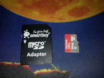 MicroSD 64 Gb + адаптер smurtbuy