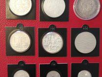 Серебро 9 монет Европа Куба