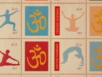 "Марки ""International day of yoga"""