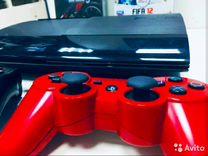 PS3 12gb super slim+игры+гарантия