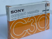 Аудиокассета Sony Low-Noise 30 запечатанная