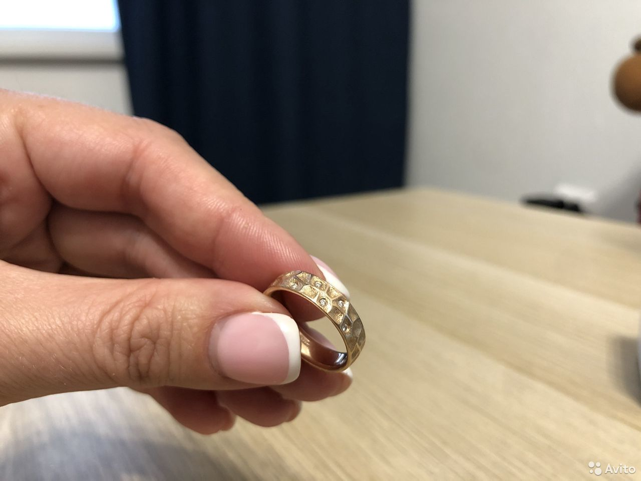 Золотое кольцо с бриллиантами р.16