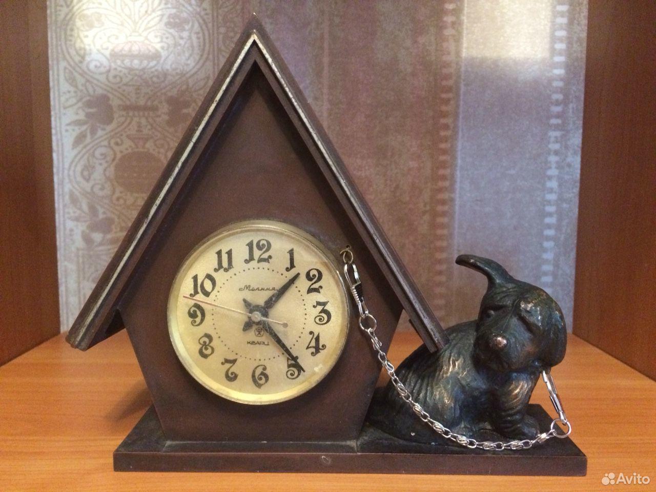 Настольные часы Молния СССР домик с собакой