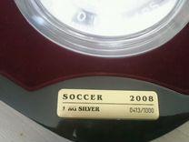 Серебряная монета 1000 гр. Евро 2008
