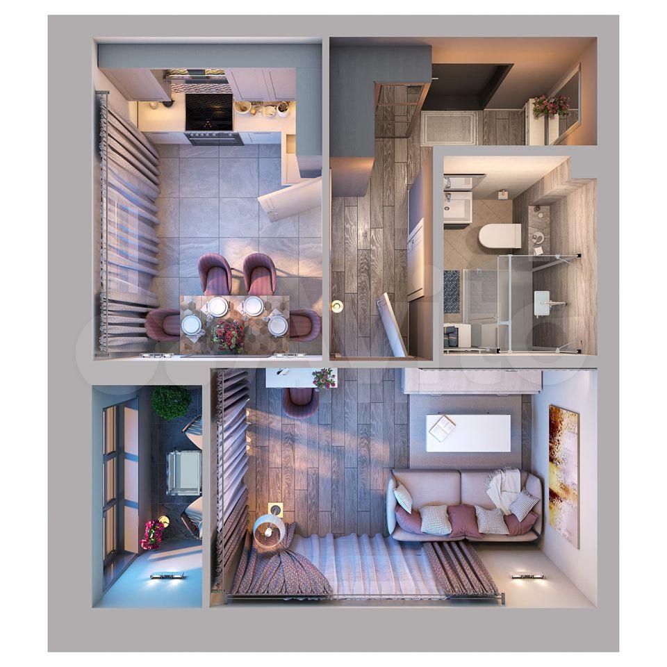 1-к квартира, 34.5 м², 11/19 эт.  89376291823 купить 1
